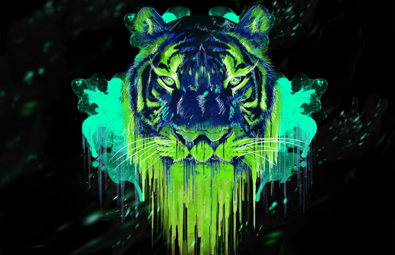 New Wallpaper / Neon Tiger « CRIATIVO2011