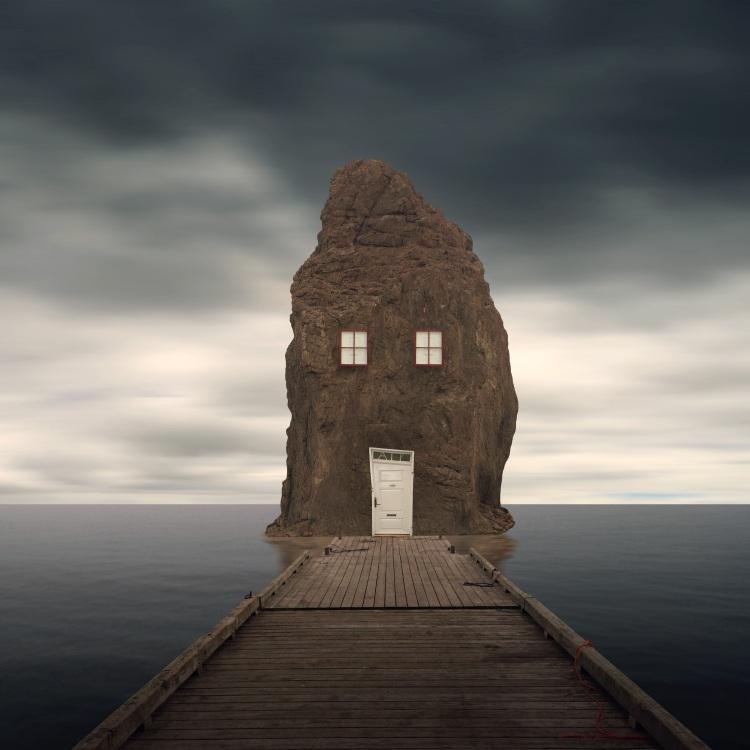 Image result for surreal dark house